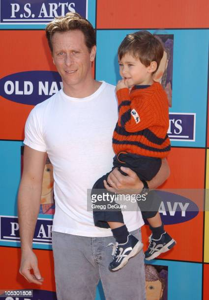 Steven Weber and son Jack during PS ARTS and Old Navy Welcome Celebrities And Their Families to A Creativity Street Fair Benefiting Arts Education at...