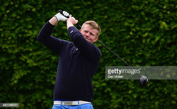 Steven Williams of Glynhir Golf Club tees off on the second hole during the Powerade PGA Assistants' Championship Western Regional Qualifier at...