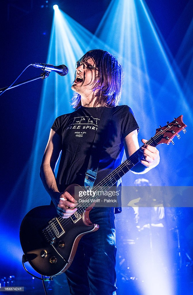 Steven Wilson performs at Le Trianon on March 8, 2013 in Paris, France.