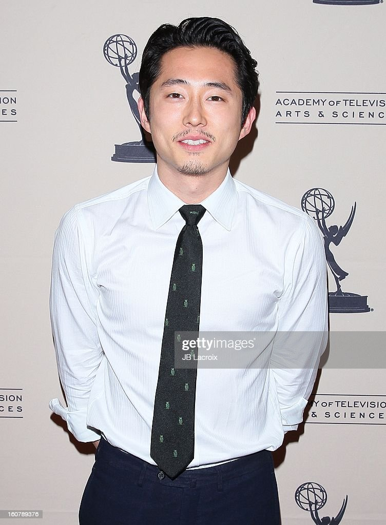Steven Yeun attends an evening with 'The Walking Dead' presented by The Academy Of Television Arts & Sciences at Leonard H. Goldenson Theatre on February 5, 2013 in North Hollywood, California.
