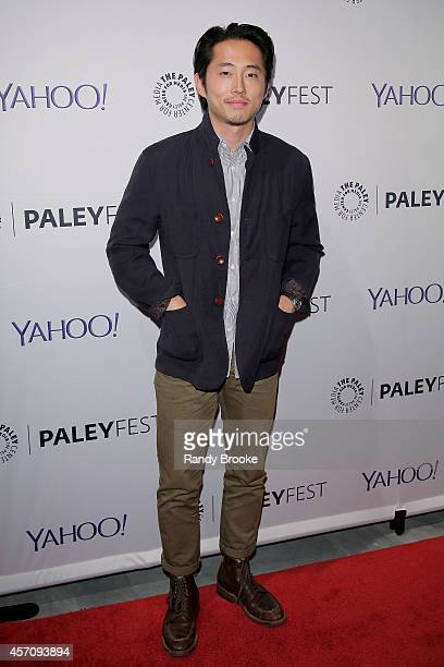 Steven Yeun attends the 2nd Annual Paleyfest New York Presents 'The Walking Dead' at Paley Center For Media on October 11 2014 in New York New York