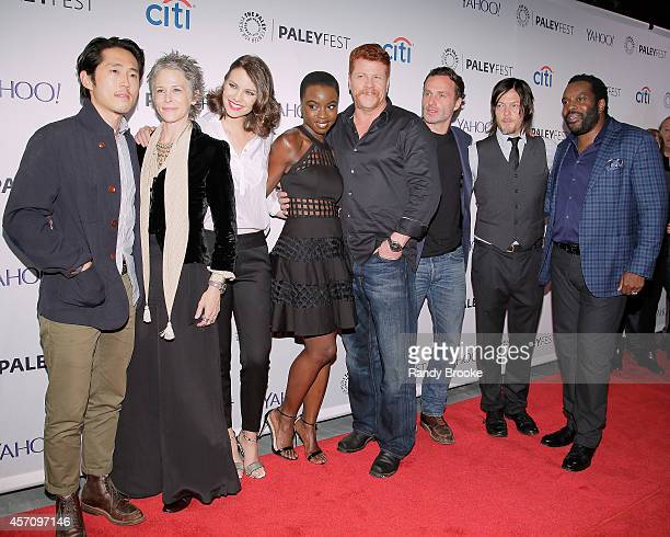 Steven Yeun Melissa McBride Lauren CohanDanai Gurira Michael Cudlitz Andrew Lincoln Norman Reedus and Chad L Coleman attend the 2nd Annual Paleyfest...