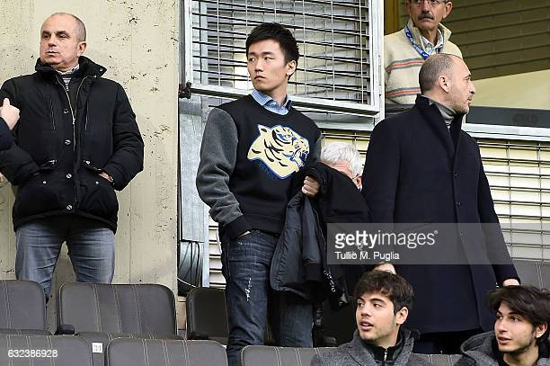 Steven Zhang Kangyang board member of FC Internazionale Milano Looks on in VIP stand during the Serie A match between US Citta di Palermo and FC...