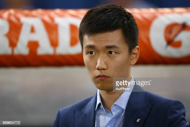 Steven Zhang Suning of Internazionale at Olimpico Stadium in Rome Italy on August 26 2017during the Serie A match between AS Roma and FC...