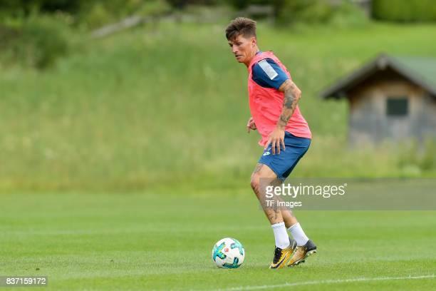 Steven Zuber of Hoffenheim controls the ball during the Training Camp of TSG 1899 Hoffenheim on July 16 2017 in Windischgarsten Austria