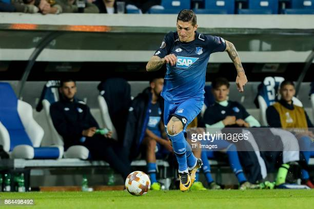 Steven Zuber of Hoffenheim controls the ball during the UEFA Europa League Group C match between 1899 Hoffenheim and Istanbul Basaksehir FK at Wirsol...