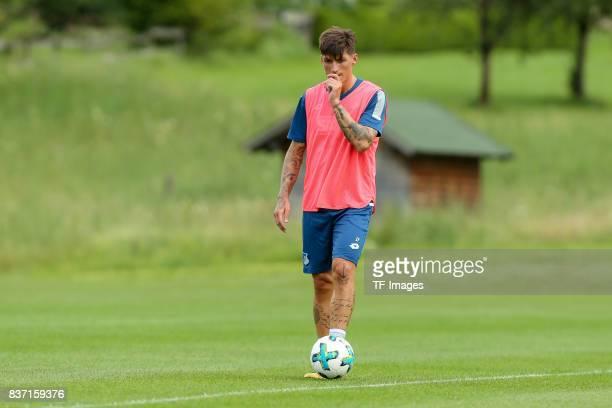 Steven Zuber of Hoffenheim looks on during the Training Camp of TSG 1899 Hoffenheim on July 16 2017 in Windischgarsten Austria