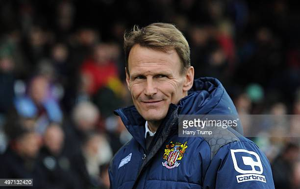 Stevenage Manager Teddy Sheringham during the Sky Bet League Two match between Yeovil Town and Stevenage at Huish Park on November 14 2015 in Yeovil...