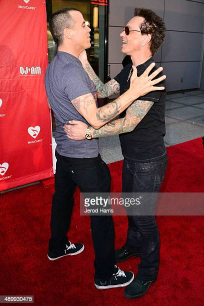 SteveO and Billy Morrison arrive at the 2014 MusiCares MAP Fund Benefit Concert at Club Nokia on May 12 2014 in Los Angeles California