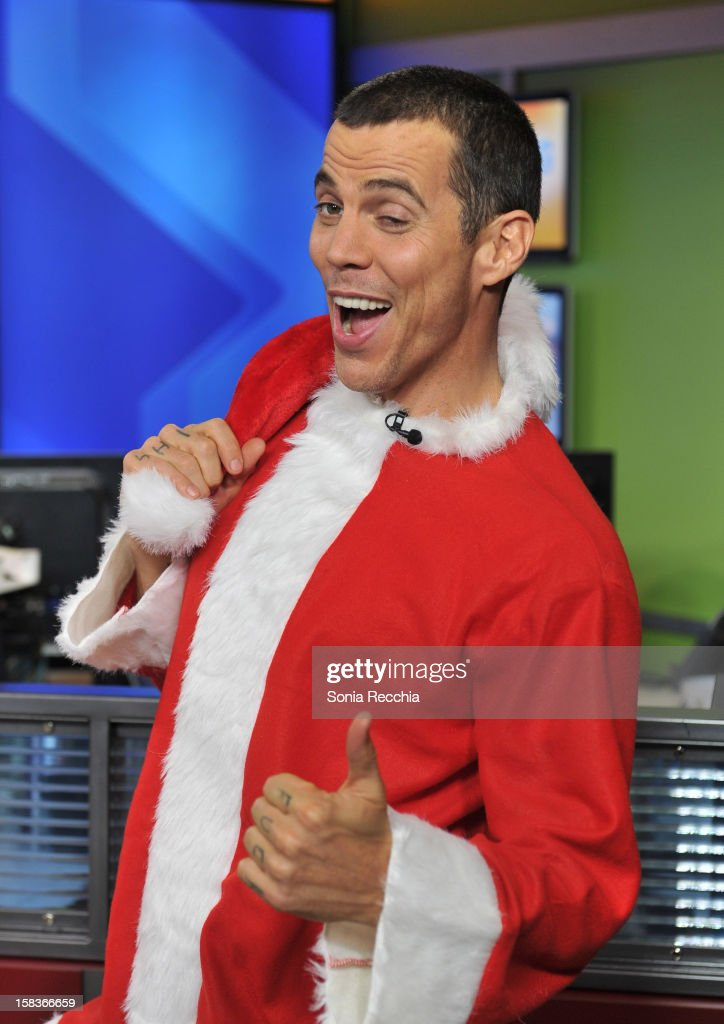 Steve-O Appears On The Morning Show at The Morning Show Studios on December 14, 2012 in Toronto, Canada.