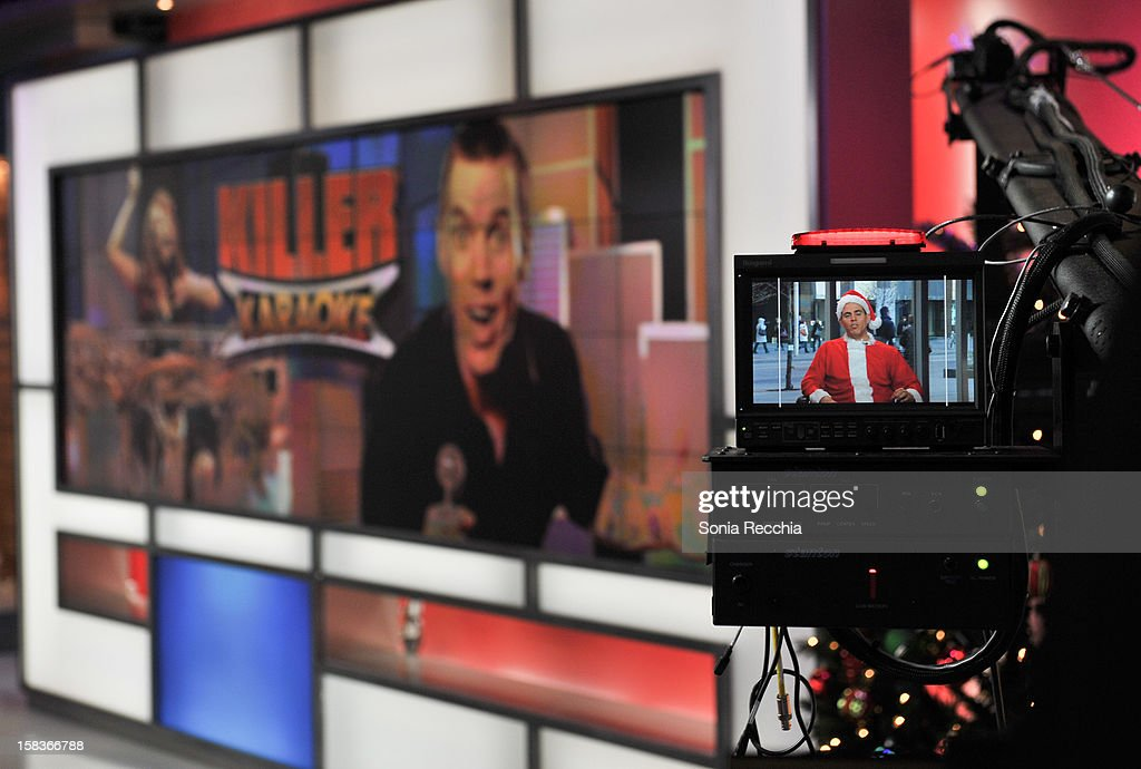 Steve-O viewed through a camera and on screen as he appears On The Morning Show - at The Morning Show Studios on December 14, 2012 in Toronto, Canada.