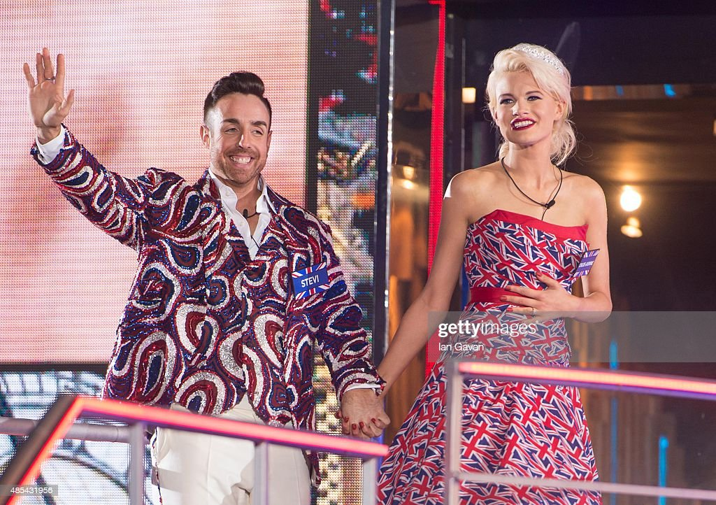 Stevi Ritchie and Chloe Jasmine enter the Celebrity Big Brother house at Elstree Studios on August 27 2015 in Borehamwood England
