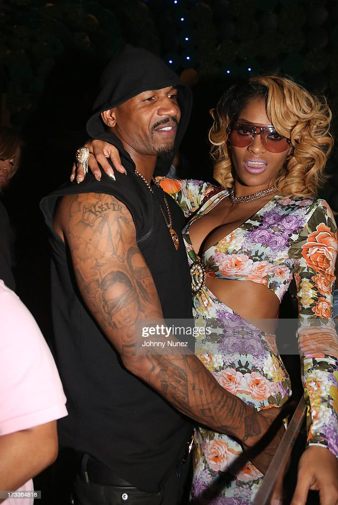 Stevie J and Joseline Hernandez attend The D9 Agenda After Party Featuring Wale at Greenhouse on July 11, 2013 in New York City.