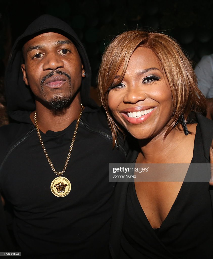 Stevie J and Mona Scott-Young attend The D9 Agenda After Party Featuring Wale at Greenhouse on July 11, 2013 in New York City.
