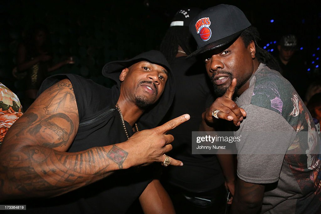 Stevie J and Wale attend The D9 Agenda After Party Featuring Wale at Greenhouse on July 11, 2013 in New York City.