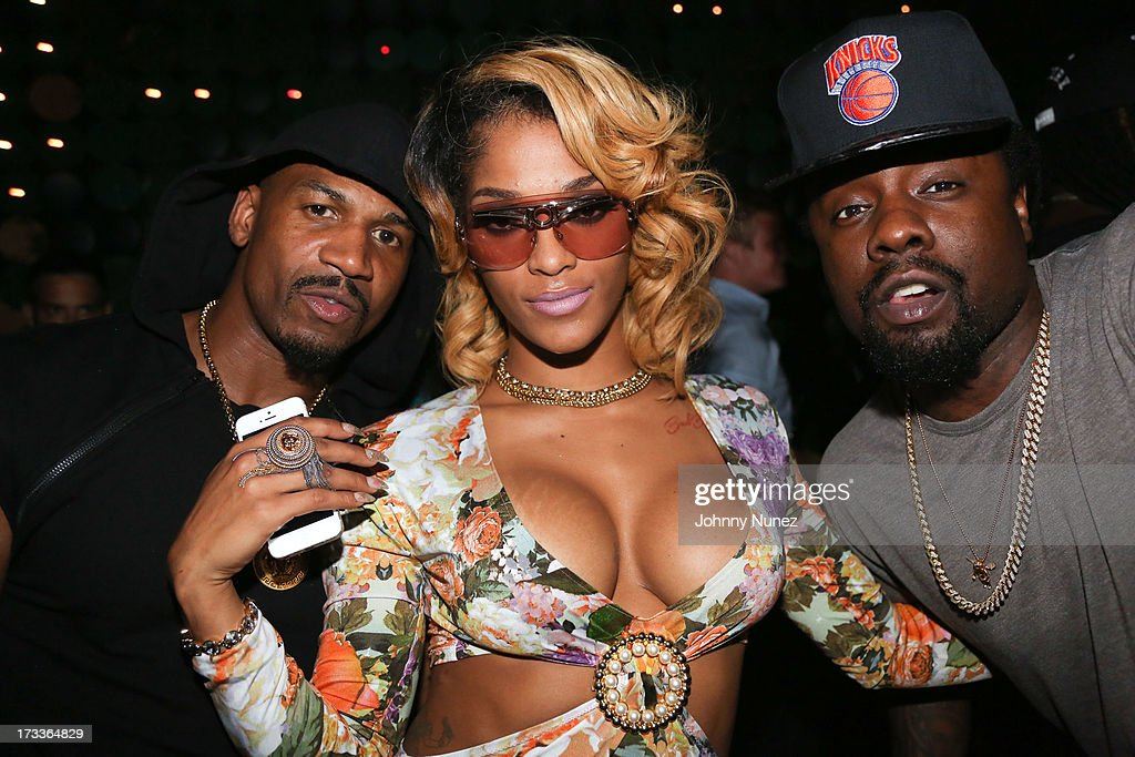 Stevie J, Joseline Hernandez and Wale attend The D9 Agenda After Party Featuring Wale at Greenhouse on July 11, 2013 in New York City.