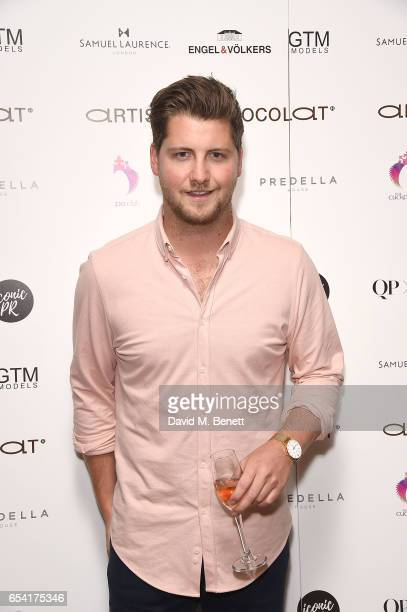 Stevie Johnson attends the ICONIC PR LND and PerrierJouët art presention of works by Picasso Miro Matisse Chagall at QP LDN on March 16 2017 in...
