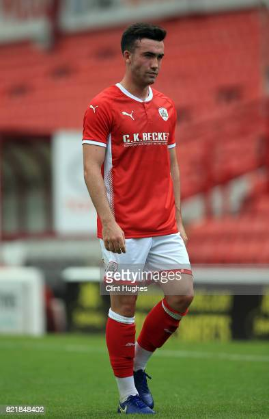 Tom Bradshaw of Barnsley during the pre season friendly at Oakwell Stadium between Barnsley and Huddersfield Town on July 22 2017 in Barnsley England
