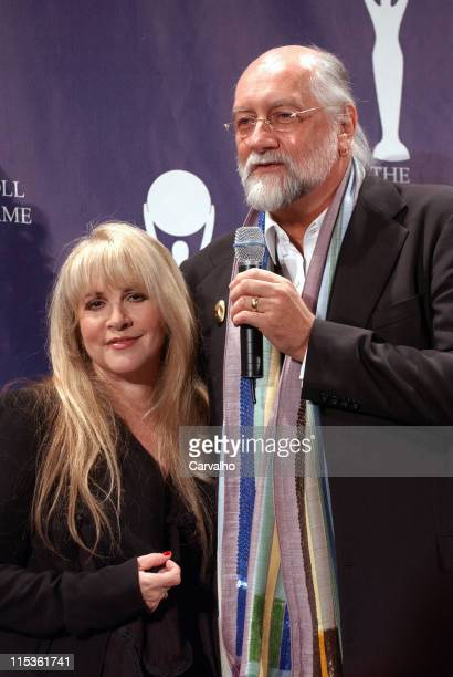 Stevie Nicks and Mick Fleetwood during 20th Annual Rock and Roll Hall of Fame Induction Ceremony Press Room at Waldorf Astoria Hotel in New York City...