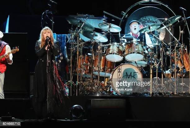 Stevie Nicks and Mick Fleetwood of Fleetwood Mac perform onstage during The Classic East Day 2 at Citi Field on July 30 2017 in New York City