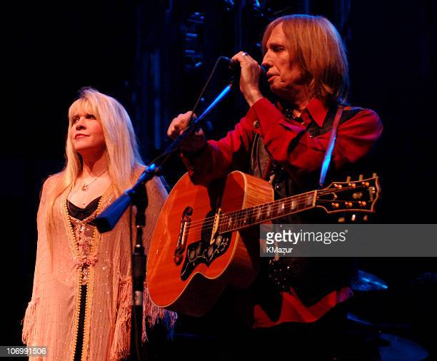 Stevie Nicks and Tom Petty during Tom Petty Stevie Nicks and Trey Anastasio in Concert at Madison Square Garden June 20 2006 at Madison Square Garden...