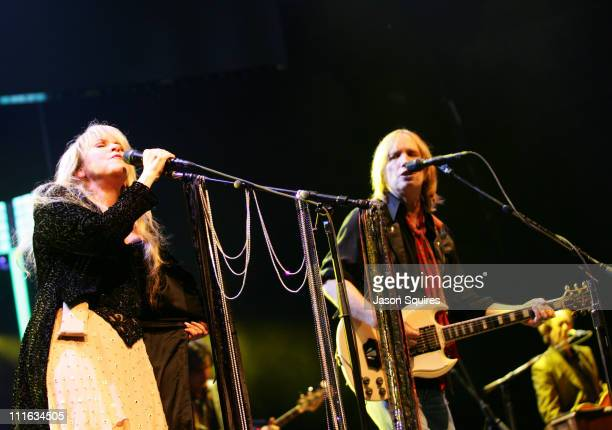 Stevie Nicks and Tom Petty during Tom Petty The Heartbreakers Highway Companion Tour with special guest Stevie Nicks at UMB Bank Pavilion in Maryland...