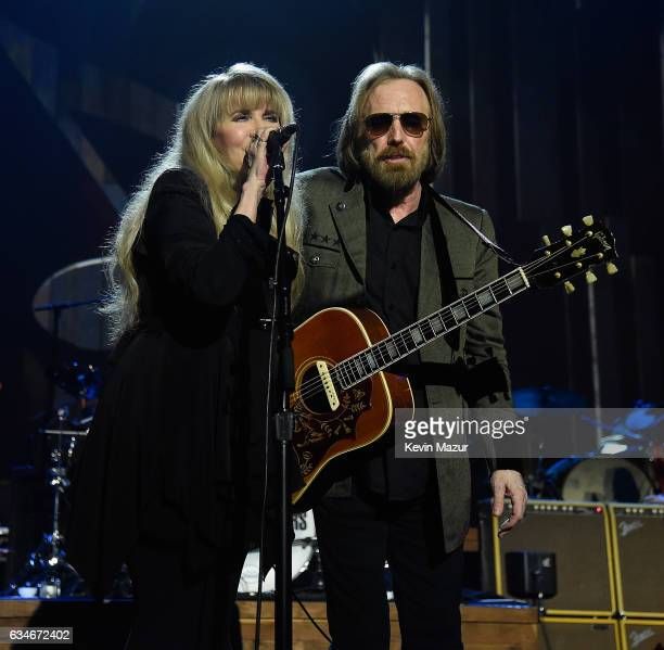 Stevie Nicks and Tom Petty perform onstage during MusiCares Person of the Year honoring Tom Petty at the Los Angeles Convention Center on February 10...