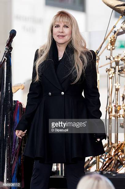 Stevie Nicks of Fleetwood Mac performs onstage during NBC's 'Today' at Rockefeller Plaza on October 9 2014 in New York City
