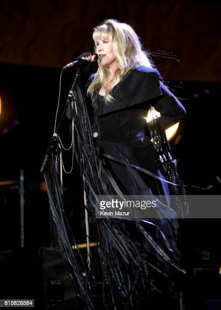 Stevie Nicks of Fleetwood Mac performs onstage during The Classic West at Dodger Stadium on July 16 2017 in Los Angeles California