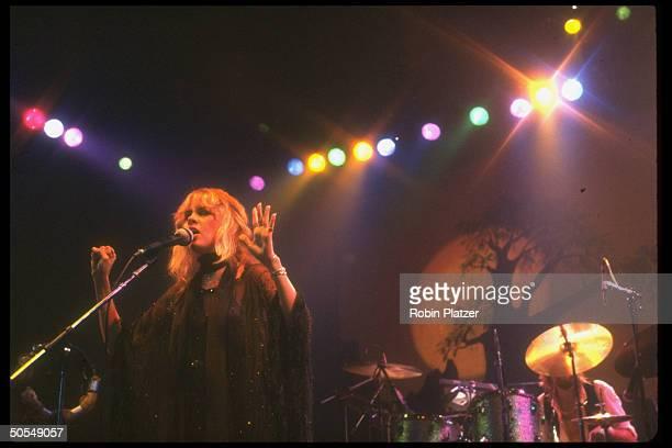 Stevie Nicks of the rock group Fleetwood Mac