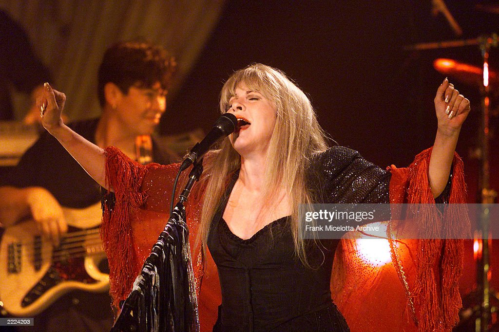 Stevie Nicks performing at a private show to introduce her upcoming May 2001 release 'Trouble in Shangri-la', her first solo collection since 1994, at SIR Studios in Los Angeles, California, March 31, 2001. Photo by Frank Micelotta/ImageDirect.