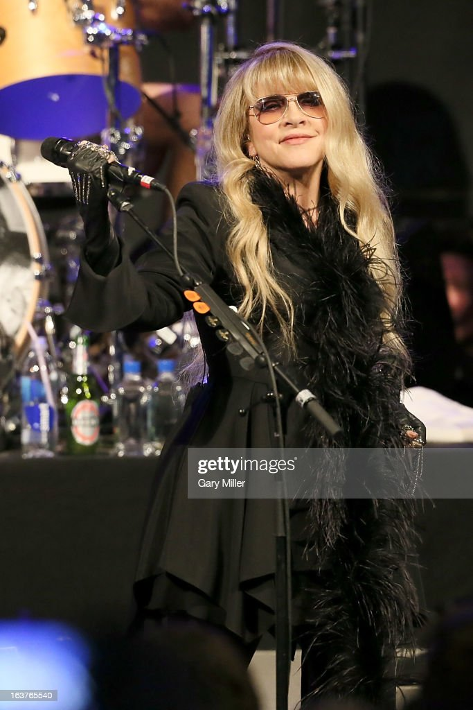 Stevie Nicks performs in concert at the Sound City showcase at Stubbs BBQ during the South By Southwest Music Festival on March 14, 2013 in Austin, Texas.