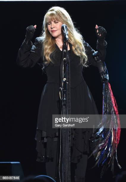 Stevie Nicks performs live on stage at Nassau Veterans Memorial Coliseum on April 6 2017 in Uniondale New York