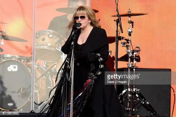 Stevie Nicks performs on stage at the Barclaycard Presents British Summer Time Festival in Hyde Park on July 9 2017 in London England