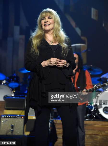 Stevie Nicks performs onstage during MusiCares Person of the Year honoring Tom Petty at the Los Angeles Convention Center on February 10 2017 in Los...