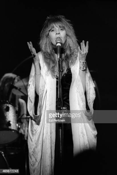 Stevie Nicks performs with Fleetwood Mac at the Berkeley Community Theater in February 1977 in Berkeley California