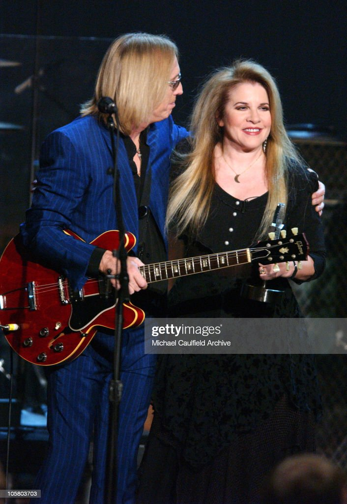 <a gi-track='captionPersonalityLinkClicked' href=/galleries/search?phrase=Stevie+Nicks&family=editorial&specificpeople=212751 ng-click='$event.stopPropagation()'>Stevie Nicks</a>, right, holds a 'Legends' award for <a gi-track='captionPersonalityLinkClicked' href=/galleries/search?phrase=Tom+Petty&family=editorial&specificpeople=224789 ng-click='$event.stopPropagation()'>Tom Petty</a>, left during the Radio Music Awards at the Aladdin Hotel in Las Vegas