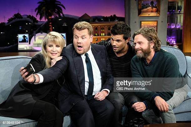 Stevie Nicks Taylor Lautner and Zach Galifianakis chat with James Corden during 'The Late Late Show with James Corden' Thursday October 6th 2016 On...