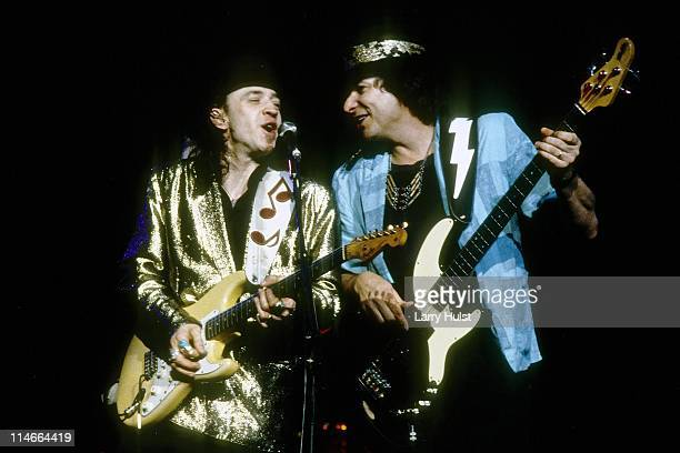 Stevie Ray Vaughan and Tommy Shannon performs at the Concord Pavilion in Concord California on October 9 1988