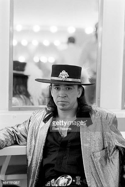 Stevie Ray Vaughan backstage at the Orpheum Theater in Memphis Tennessee on August 26 1986