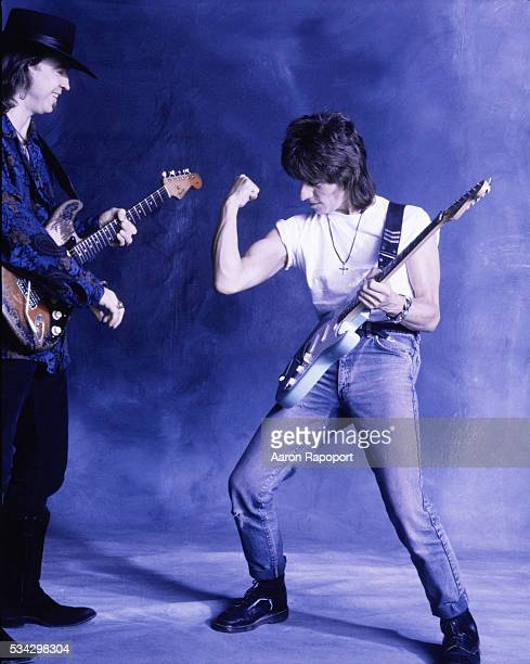 Stevie Ray Vaughn and Jeff Beck