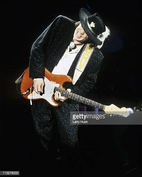 Stevie Ray Vaughn performs at the Community Center in Sacramento California on July 2 1987