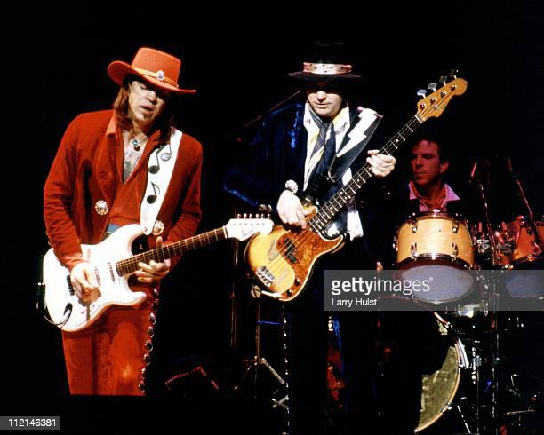 Stevie Ray Vaughn with Double Trouble performs at the Community Center in Sacramento California on August 2 1986