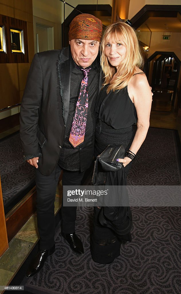 Stevie Van Zandt (L) and Maureen Van Zandt attend an after party following the press night performance of 'Sinatra At The London Palladium' at The Savoy Hotel on July 20, 2015 in London, England.