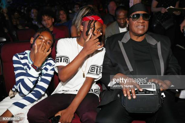 Stevie Wonder and guests at 2017 BET Awards at Microsoft Theater on June 25 2017 in Los Angeles California