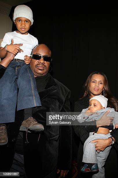 Stevie Wonder and wife Kai Milla with son Kailand and daughter Mandla
