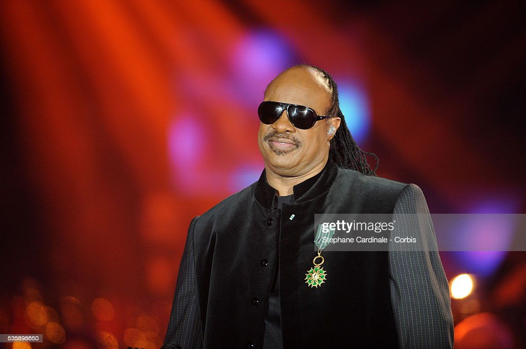Stevie Wonder at the '25th Victoires de la Musique' ceremony, held at the Zenith in Paris.