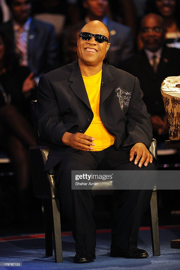 Stevie Wonder attends 'Advancing The Dream: Live From The Apollo' Hosted By Reverend Al Sharpton at The Apollo Theater on September 6, 2013 in New York City.
