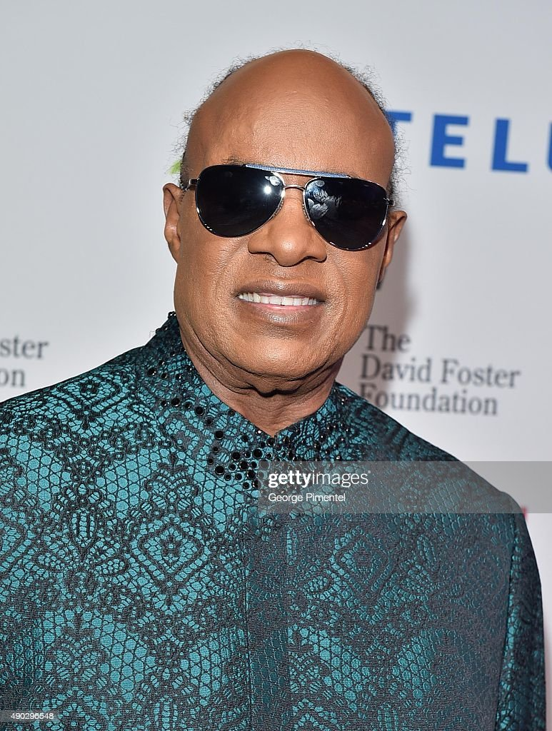 Stevie Wonder attends David Foster Foundation Miracle Gala And Concert held at Mattamy Athletic Centre on September 26, 2015 in Toronto, Canada.