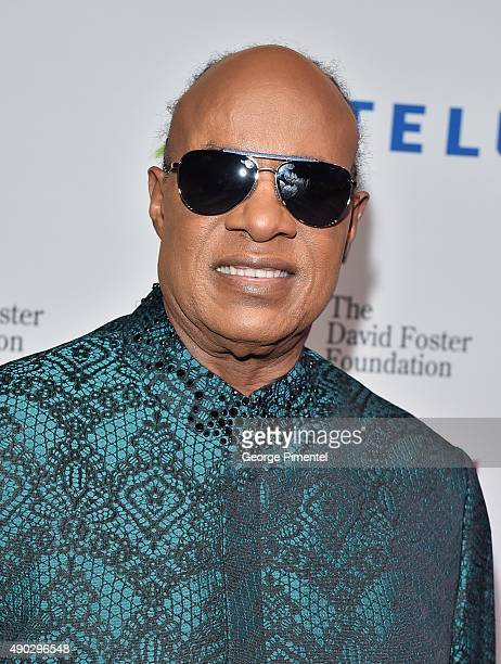 Stevie Wonder attends David Foster Foundation Miracle Gala And Concert held at Mattamy Athletic Centre on September 26 2015 in Toronto Canada